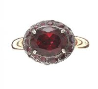 POMELLATO 18CT GOLD-PLATED STERLING RING SET WITH RHODOLITE GARNET at Ross's Jewellery Auctions