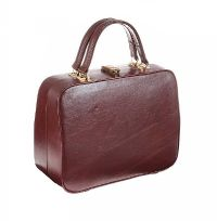 1970'S BURGANDY LEATHER MAKE-UP CASE at Ross's Jewellery Auctions