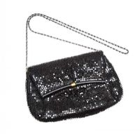 BLACK CHAINMAIL EVENING BAG at Ross's Jewellery Auctions