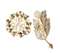 TWO COSTUME BROOCHES at Ross's Jewellery Auctions