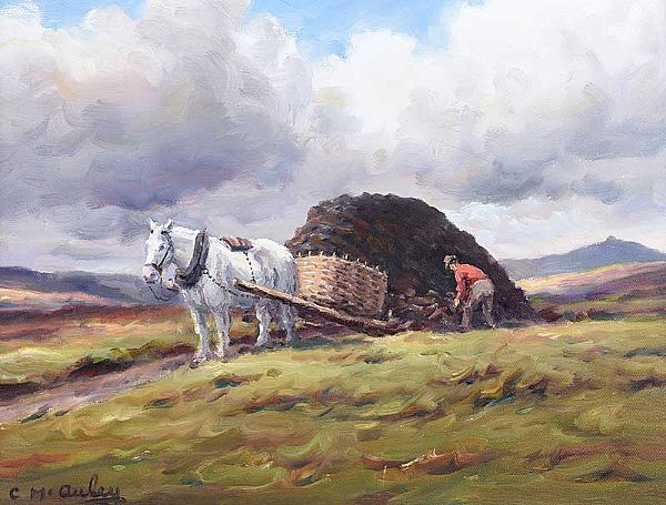 LOADING THE TURF by Charles McAuley at Ross's Online Art Auctions
