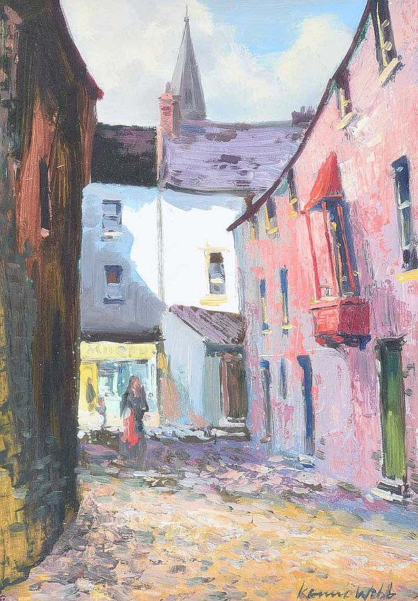 BUTTERMILK LANE, GALWAY by Kenneth Webb RUA at Ross's Online Art Auctions