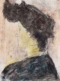 PORTRAIT OF A WOMAN by William Conor RHA RUA at Ross's Auctions