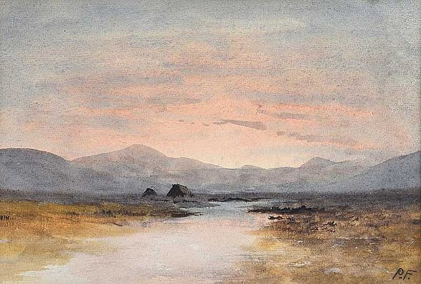 TURF STACKS & BOGLANDS by William Percy  French at Ross's Online Art Auctions