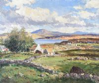 AT MARBLE HILL STRAND, DONEGAL by Maurice Canning  Wilks ARHA RUA at Ross's Auctions