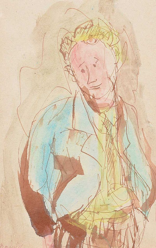 PORTRAIT OF A BOY by Daniel O'Neill at Ross's Online Art Auctions