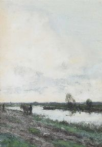 A DUTCH CANAL by Jan Martinus Vrolyk at Ross's Online Art Auctions