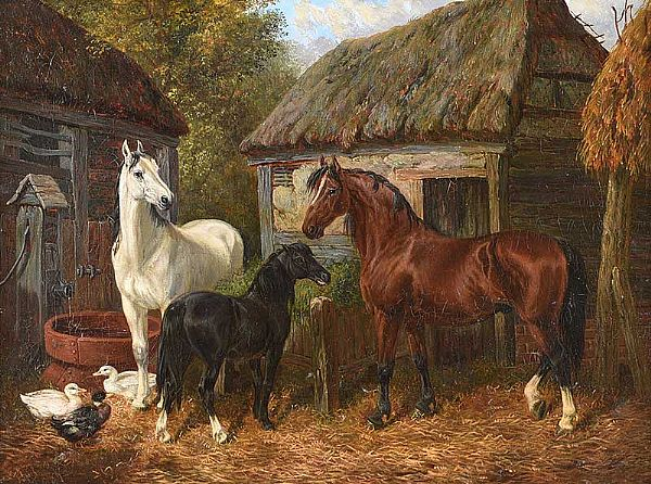 THE FARMYARD by John Frederick Herring JNR at Ross's Online Art Auctions