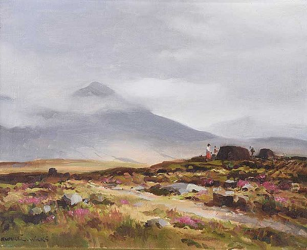 IN THE INAGH VALLEY, COUNTY GALWAY by Maurice Canning  Wilks ARHA RUA at Ross's Online Art Auctions