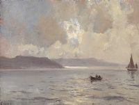OUT FISHING, ANTRIM COAST by James Humbert Craig RHA RUA at Ross's Auctions