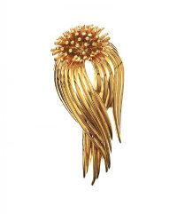 D'ORLAN GOLD-TONE BROOCH