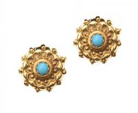 9CT GOLD TURQUOISE EARRINGS at Ross's Jewellery Auctions