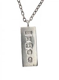 STERLING SILVER INGOT NECKLACE at Ross's Jewellery Auctions