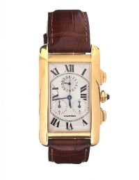 CARTIER TANK AMERICAINE 18CT GOLD WRISTWATCH at Ross's Jewellery Auctions