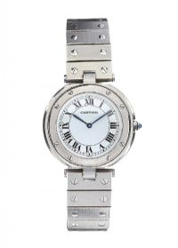 CARTIER STAINLESS STEEL WRIST WATCH at Ross's Jewellery Auctions