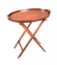 NINETEENTH CENTURY MAHOGANY BUTLER'S TRAY ON STAND at Ross's Online Art Auctions