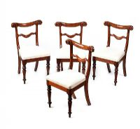 SET OF FOUR EARLY VICTORIAN MAHOGANY DINING ROOM CHAIRS at Ross's Auctions
