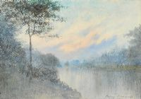 TREE BY THE LOUGH by William Percy  French at Ross's Auctions