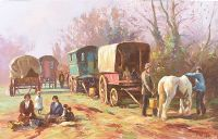 THE TRAVELLERS CAMP by Donal McNaughton at Ross's Auctions