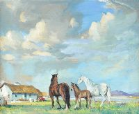 CONNEMARA PONIES by Kenneth Webb RUA at Ross's Auctions