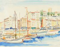 MEDITERRANEAN HARBOUR by Father Jack P. Hanlon RHA at Ross's Auctions