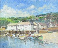 CALM WATER IN THE HARBOUR by John Ambrose at Ross's Auctions