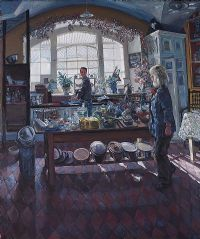 KITCHEN AT SEAFORDE HOUSE by Hector McDonnell ARUA at Ross's Auctions