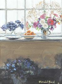 STILL LIFE, FLOWERS BY A WINDOW by Diarmuid Boyd at Ross's Auctions