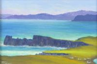 TORY ISLAND LOOKING TOWARDS THE MAINLAND by Sean Loughrey at Ross's Auctions