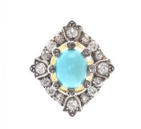 VICTORIAN DIAMOND AND TURQUOISE RING at Ross's Jewellery Auctions