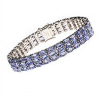 STERLING SILVER TANZANITE BRACELET at Ross's Jewellery Auctions
