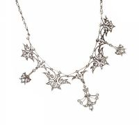 EDWARDIAN 14CT WHITE GOLD AND DIAMOND NECKLACE at Ross's Jewellery Auctions