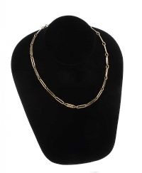 9CT GOLD FANCY LINK NECKLACE at Ross's Jewellery Auctions