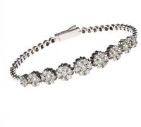 18CT WHITE GOLD DIAMOND BRACELET at Ross's Jewellery Auctions