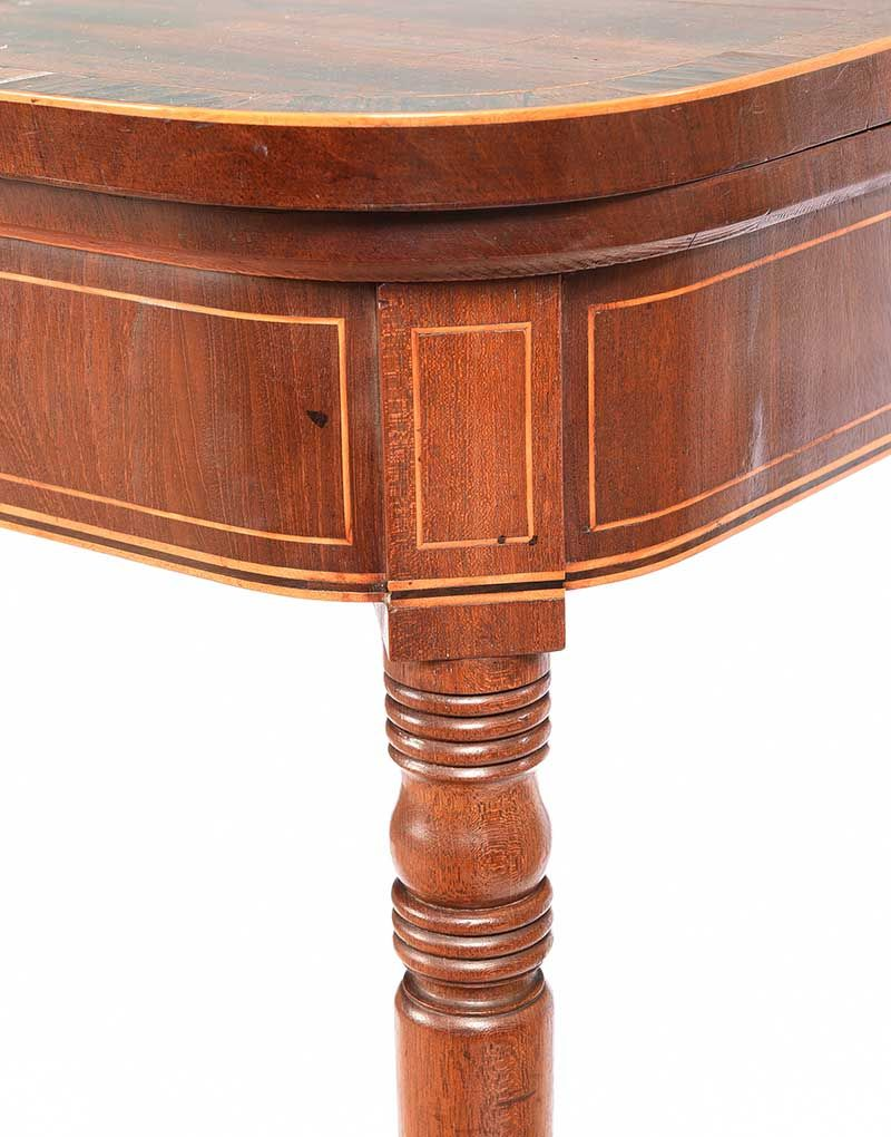 GEORGIAN MAHOGANY TURN OVER LEAF GAMES TABLE at Ross's Online Art Auctions