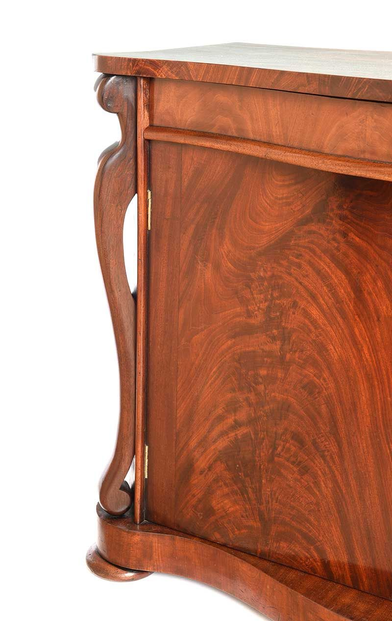 VICTORIAN MAHOGANY TWO DOOR SIDE CABINET at Ross's Online Art Auctions