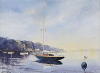 BOATS AT REST by George Lyles at Ross's Auctions