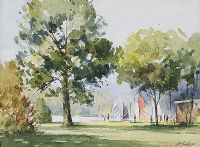 SAILING IN THE PARK by George Lyles at Ross's Auctions