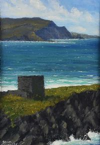 DUNAFF HEAD FROM ISLE OF DOAGH by Sean Loughrey at Ross's Auctions