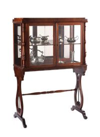 ROSEWOOD DISPLAY CABINET at Ross's Auctions