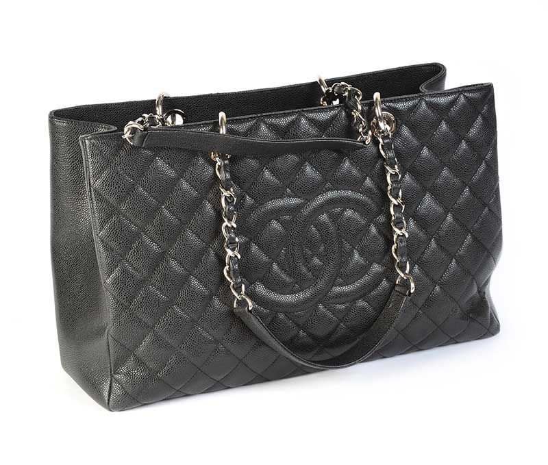 5ff11a2421b2 CHANEL GRAND SHOPPING TOTE BLACK CAVIAR at Ross s Online Art Auctions ...