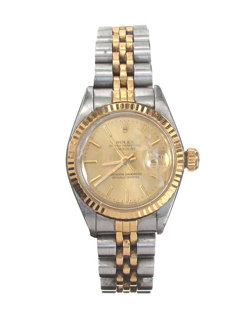 fcb3f2b663c ROLEX 'OYSTER PERPETUAL DATEJUST' STAINLESS STEEL AND 18CT GOLD LADY'S WRIST  WATCH at Ross's ...