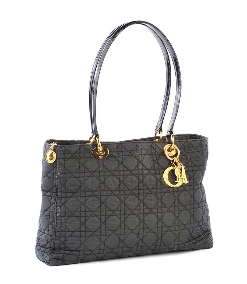 Dior Black Quilted Fabric Handbag At Ross S Online Art Auctions