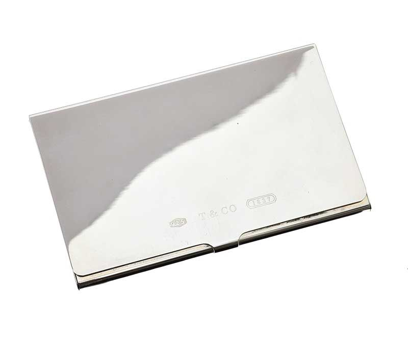 reputable site 7e582 db50d TIFFANY & CO STERLING SILVER BUSINESS CARD CASE