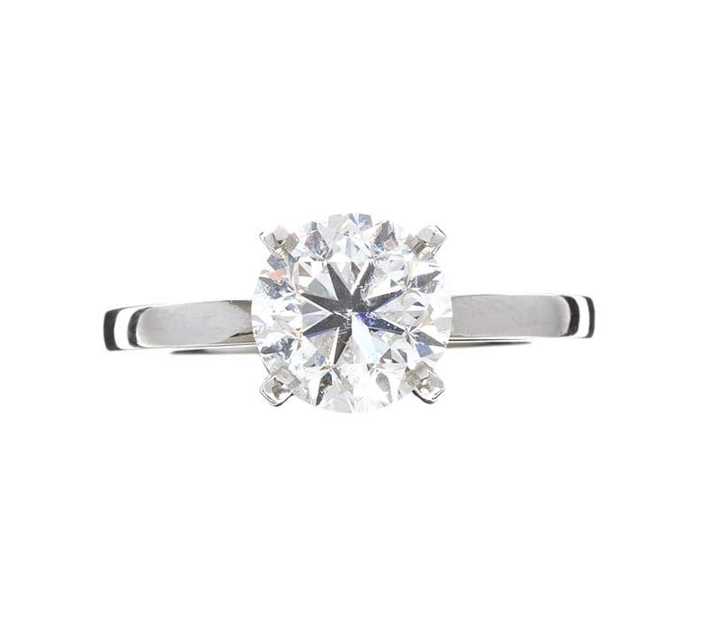PLATINUM DIAMOND SOLITAIRE RING WITH GIA GEMMOLOGICAL CERTIFICATE at Ross's Online Art Auctions