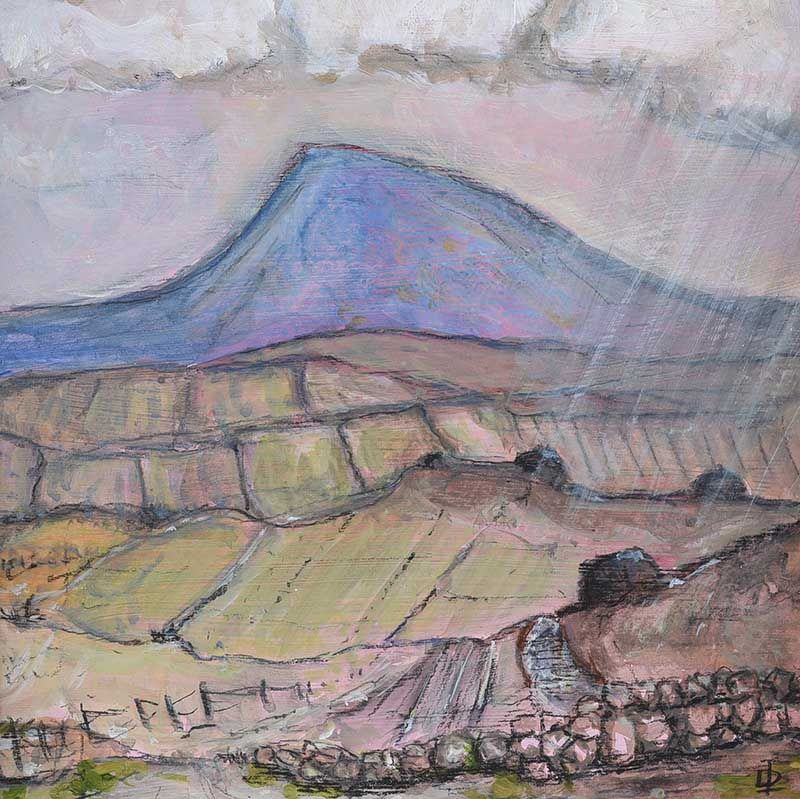 THE DISTANT MOUNTAIN, WEST OF IRELAND by David Lennon at Ross's Online Art Auctions