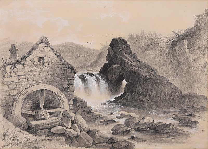 THE OLD MILL by James Howard Burgess RHA at Ross's Online Art Auctions