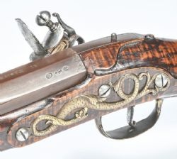 Highly Important 17th Century Flintock Carbine Bearing James II Cypher